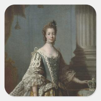 Mecklenburg-Strelitz 1762年のシャーロットSophia スクエアシール