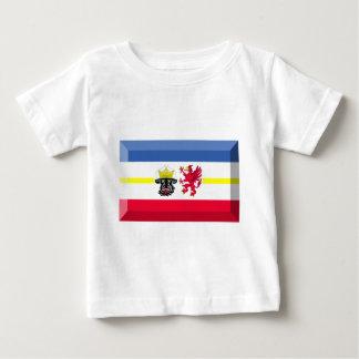 Mecklenburg-Vorpommernの旗の宝石 ベビーTシャツ