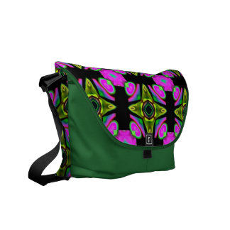 Med. 紫色または緑のデザインの人力車のメッセンジャーバッグ クーリエバッグ