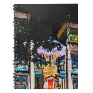 Medellinコロンビアのクリスマスの照明ショー ノートブック