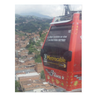 Medellínコロンビアのケーブル・カー ポストカード
