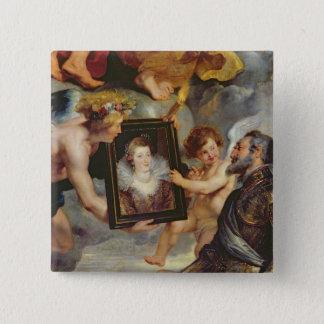 Medici周期: アンリーIVの受け入れのポートレート 5.1cm 正方形バッジ
