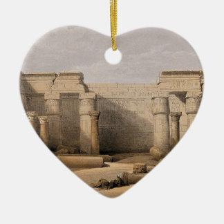 Medinet Abou、Thebes、エジプトの台なし セラミックオーナメント