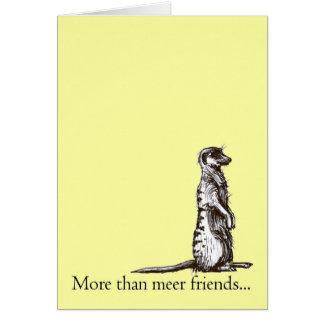 meerの友人のmeerkatの挨拶状より多く カード