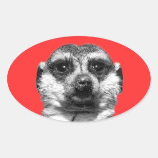 Meerkatのカスタムな楕円形のステッカー 楕円形シール