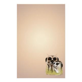 Meerkatのカップルstationery_vertical.v2. 便箋