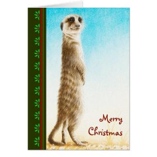 Meerkatのクリスマスカード カード
