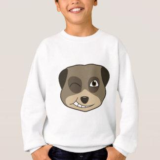 meerkatのデザインのまばたき スウェットシャツ