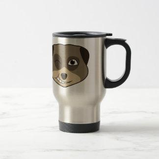 meerkatのデザインのまばたき トラベルマグ