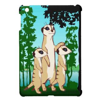 Meerkatのミイラおよび双生児 iPad Miniケース