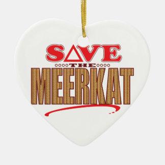 Meerkatの保存 セラミックオーナメント