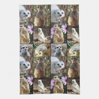 Meerkatの写真のコラージュのふきん キッチンタオル