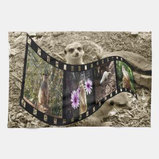 Meerkatの写真のストリップ、ふきん キッチンタオル