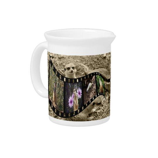 Meerkatの写真のストリップ、ミルク水差し、水差し ピッチャー