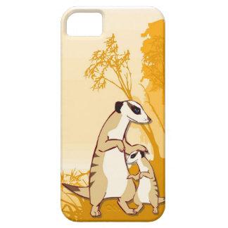 Meerkatの母および子供 iPhone SE/5/5s ケース