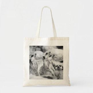 Meerkatの白黒写真 トートバッグ