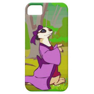Meerkatの紫色の服 iPhone SE/5/5s ケース