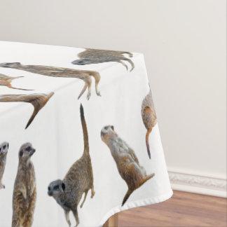 Meerkatの逆上のテーブルクロス(色を選んで下さい) テーブルクロス