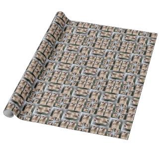 Meerkatパターン ラッピングペーパー