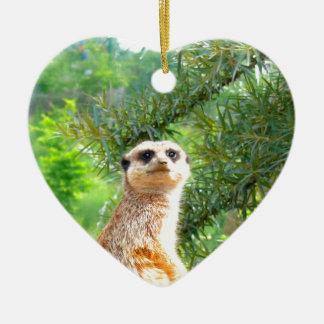 meerkat動物自然を愛するために先に見て下さい セラミックオーナメント