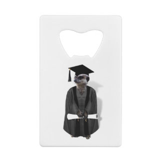 Meerkat大学院W/Greyのガウン及び黒いサッシュ ウォレット 栓抜き