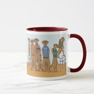 Meerkat家族のポートレートのマグ マグカップ