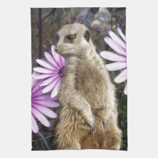 Meerkat_And_Daisies、_ キッチンタオル