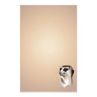 Meerkat stationery_vertical.v2.女性 便箋