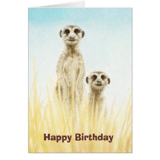 Meerkatsのバースデー・カード カード