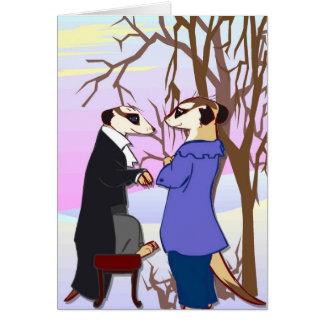 meerkats、外の会合に会って下さい カード