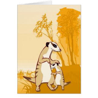 meerkats、家族の遠出に会って下さい カード