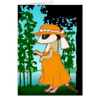 meerkats、森林歩行に会って下さい カード