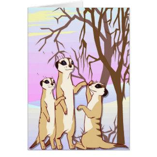 meerkats、雪の家族に会って下さい カード