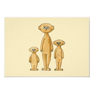 Meerkats. 8.9 X 12.7 インビテーションカード