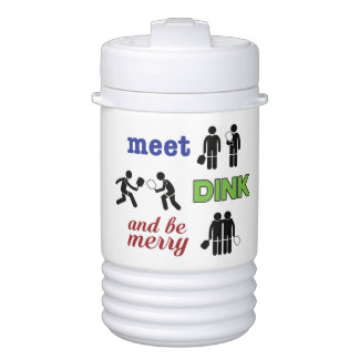 """""""Meet, Dink, and Be Merry"""" Pickleball Water Jug ドリンククーラー"""