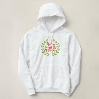 Meet me under the mistletoe - Christmas Wreath パーカ