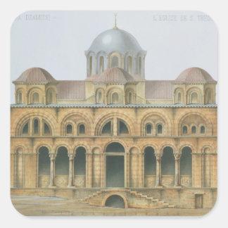 Mefa DzamissiのSt. Theodorの教会の正面 スクエアシール