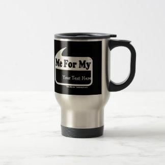 MeForMyの白いロゴのテンプレート旅行コーヒー・マグ トラベルマグ