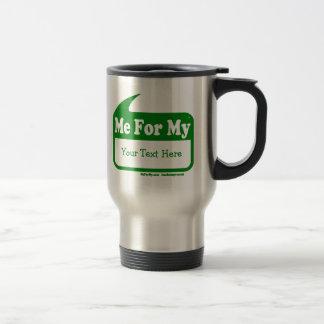 MeForMyの緑のロゴのテンプレート旅行コーヒー・マグ トラベルマグ