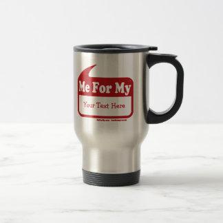MeForMyの赤いロゴのテンプレート旅行コーヒー・マグ トラベルマグ