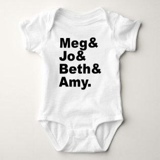 Meg及びJo及びBeth及び友|の小さい女性の文献 ベビーボディスーツ