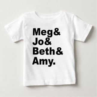 Meg及びJo及びBeth及び友|の小さい女性の文献 ベビーTシャツ