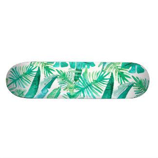 Megafloraのデザインによる熱帯葉のデッキ カスタムスケートボード