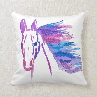 Megaflora著ボヘミアの馬の枕 クッション