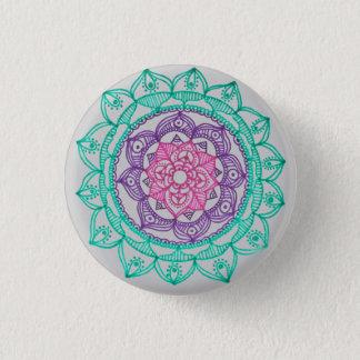 Megaflora著曼荼羅Pinを基づかせていること 缶バッジ