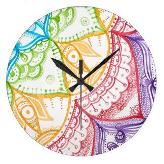 Megaflora著華麗な夢の時計 ラージ壁時計