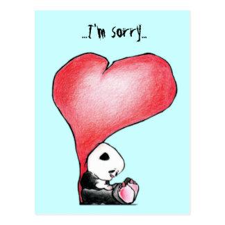 Megg: かわいいパンダ-ハート、私は残念の郵便はがきです ポストカード