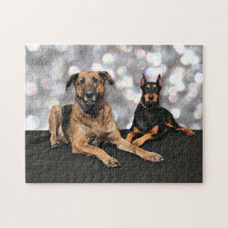 Megyanのドーベルマン犬-バークレーのマスティフX ジグゾーパズル