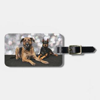 Megyanのドーベルマン犬-バークレーのマスティフX ラゲッジタグ