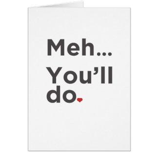 Meh…おもしろいなバレンタインデーカードをします カード